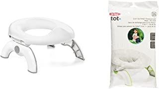 OXO Tot 2-in-1 Go Potty for Travel in Gray and Go Potty Refill Bags, 30 Count