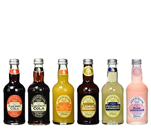 Fentimans Victorian Lemonade, Cherry Cola, Lemon Shandy, Rose Lemonade, Mandarin and Seville Orange Jigger und Curiosity Cola inkl. Pfand (6 x 0.275 l)
