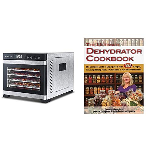 New COSORI Premium Food Dehydrator Machine, 6 Stainless Steel Trays with Digital Timer and Temperatu...