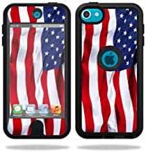 MightySkins Skin Compatible with OtterBox Defender Apple iPod Touch 5G 5th Generation Case American Flag