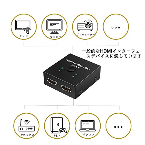 【4K安定版】HDMI切替器4K60HZhdmiVer2.0セレクター1入力2出力/2入力1出力双方向HDCP2.2手動切り替えPS4ProDVDプレーヤーHDTV対応