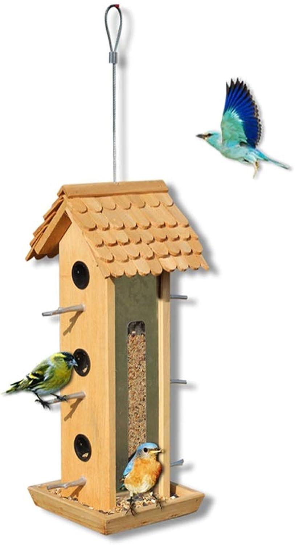 NYDZDM Outdoor Garden Hanging Wild Bird Feeder Seed Container Storage Gardening Bird Feeder