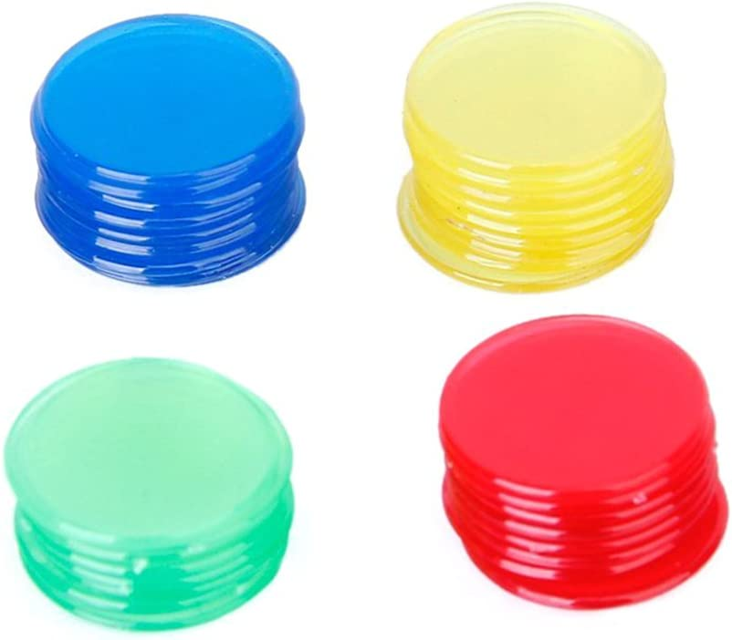 TOYMYTOY 400pcs Our shop most popular Bingo Chips Max 77% OFF Markers 4 Game Cards for Colo