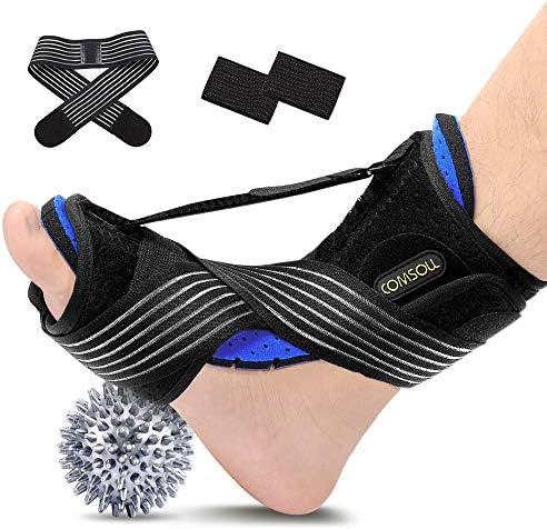 Comsoul Plantar Fasciitis Night Splint Breathable Adjustable Foot Drop Brace for Sleep Support product image