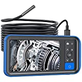 Teslong 5.5mm Inspection Camera with Screen, 0.21inch Ultra Slim Waterproof Borescope Endoscope with 4.5inch LCD Monitor and 6 LED Lights-32GB Memory Card-Chargeable Battery-Carrying Case-16.5ft (5m)