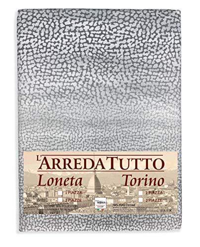 tex family Telo ARREDO COPRITUTTO Gran Foulard COPRILETTO COPRIDIVANO Tessuto Passion Grigio - 1 Piazza