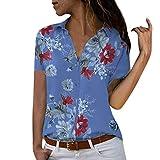 Darringls Maglietta Donna Estive Manica Corta Eleganti Bluse Donna Taglie Forti Casual Camicie Tumblr Moda Donna Chiffon Sciolto Estate T-Shirt Cime Camicie Tops Blusa 2019