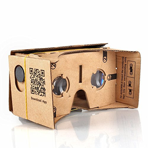 Tnp Products Google Cardboard Kit 3d Virtual Reality Glasses Diy Valencia Quality Tool Compatible With 5 Inch Screen Android And Apple Smartphone Easy