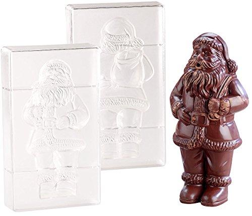 Rosenstein & Söhne Schokoladenform: 3D Schokoladen-Gussformen-Set