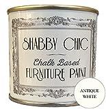 Shabby Chic, Vernice a base di gesso per mobili, superficie opaca, colore: bianco antico (Antique White), 250ml