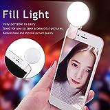 Qiopes Luce di riempimento per Telefono Cellulare Obiettivo della Fotocamera Luce di riempimento per Selfie Esterna Apparecchi di contenimento secondario