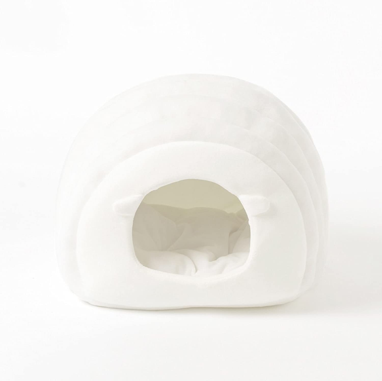 Huangyingui Simple Soft Short Plush Warm Pet Nest Dog Cat Bed, White, Grey (color   White)