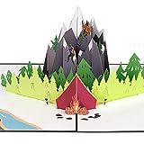 PaperCrush® Pop-Up Karte Klettern [NEU!] - 3D Geburtstagskarte, Glückwunschkarte für Bergsteiger, Abenteuer Urlaub, Bouldern Gutscheinkarte inkl. Umschlag