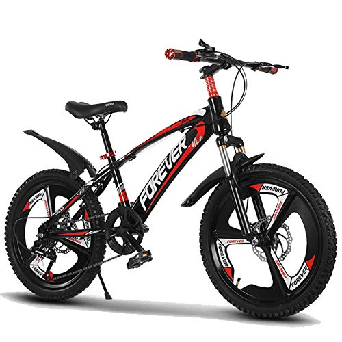BAOMEI Kids Bike 18/20 Inch Kids Outdoor Bicycle,for 7-14Years Old Boys and Girls Adjustable Children Mountain Bike,Red, Blue (Color : Red, Size : 18in)