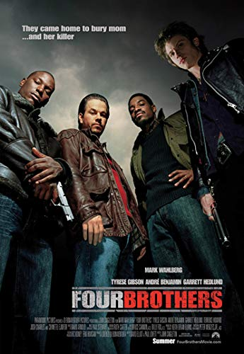Four Brothers Movie Mark Wahlberg Poster Prints Wall Art Decor Unframed,32x22 16x12 Inches,Multiple Patterns Available