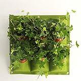 Le grow bag sono realizzate in tessuto non tessuto di alta qualità. Le fioriere verticali sospese a parete ti danno spazio per coltivare piante in una piccola stanza, appartamento o in un'area esterna limitata. Ogni borsa per la semina ha 9 tasche pi...