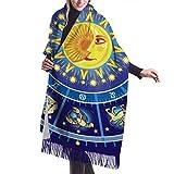 太阳星座の运势は月十二宫の図羊绒衫星座 スカーフ 紫外線防止 男女兼用 登山に適しています