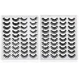 Lanflower Fake Eyelashes Natural Look 3D Dramatic Lashes Pack Wholesale Bulk 40 Pairs 8 Styles