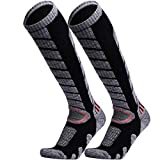 WEIERYA Ski Socks 2 Pairs Pack for Skiing, Snowboarding, Cold Weather,...