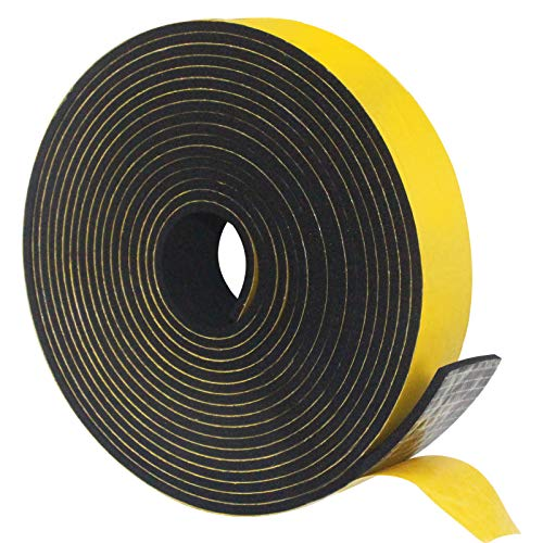 Weather Stripping Door Seal Strip,Foam Insulation Tape for Sliding Doors and Windows Sound Proof Soundproofing Door Seal,Weatherstrip,Air Conditioning Seal Strip (1 in x 1/8 in x 33 Ft)