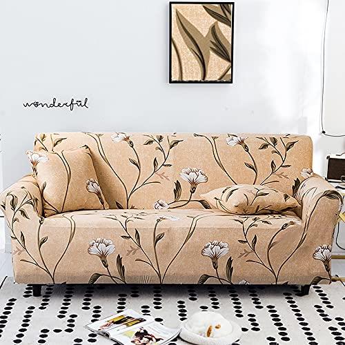 PPOS Stretch-Sofabezug Schonbezüge Elastischer All-Inclusive-Couchbezug für Verschiedene Sofa-Sofa-Stuhl L-Stil Sofa-Etui A6 2er-Sofa 145-185cm-1Stk-