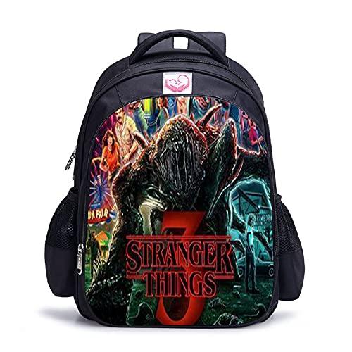 Stranger Things Sac à dos d'école, sac à déjeuner pour étudiant, sac à bandoulière imprimé 3D Stranger Things