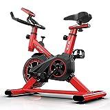 SAFGH Bicicleta de Ejercicios giratoria Bicicleta de Ejercicios para el hogar Equipo de Ejercicios para Interiores Bicicleta de Ejercicios práctica (Color: Negro, Tamaño: 85x45x110cm)