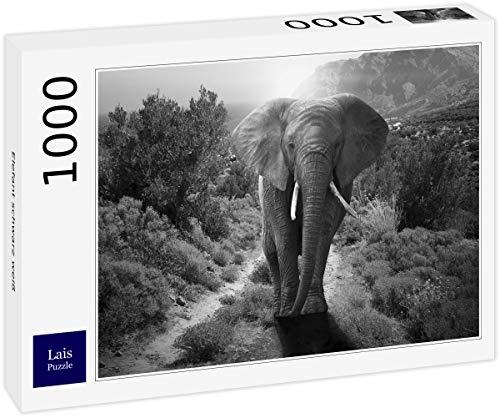 Lais Puzzle Elefante Negro Blanco 1000 Piezas