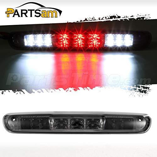 Partsam Replacement For Chevrolet Silverado 2007-2013/GMC Sierra 1500 2500 3500 2014 Classic Model Red/White LED Smoke Lens High Mount 3rd Third Brake Light Cargo Tail Lamp