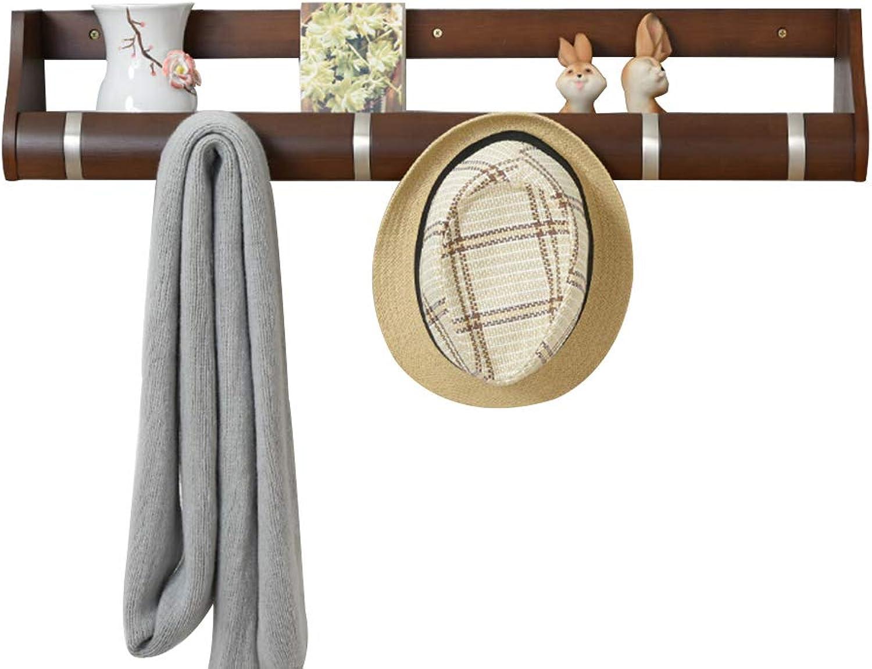 GWM Shelf Creative Wall-Mounted Floating Coat Rack,Coat Hook Key Hooks with Flip Down Hooks Storage Racks Wall Shelf for Hallway (Size    4)