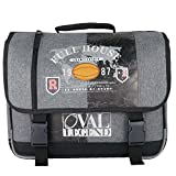 CARTABLE 41CM GRIS-OVAL LEGEND RUGBY