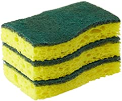 Scotch-Brite Heavy Duty Scrub Sponge, Yellow, Pack of 3 (420-3pc)