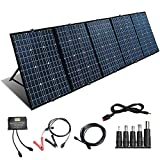 300W 12V Kit de Panel Solar Plegable Cargador Solar Impermeable Módulo Solar con Puerto de Salida 18V Controlador 20A + Cable Anderson 5M para Teléfonos,Techo, Camping,RV(300W)