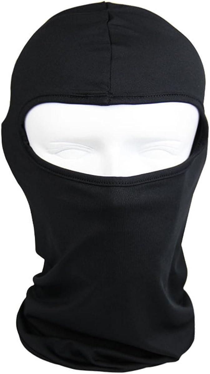 The Bikers Zone -Thin Cotton Spandex Balaclava Face Mask, Ski Mask, Helmet Liner Lightweight and Thin (Black)