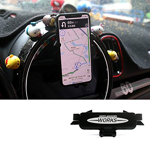 Car Cell Phone Holder Dashboard Speficific Stand Plug-in Bracket Hands-Free Cradle (4-6.5 Inch Phone) for Mini Cooper JCW F55 F56 F57 Clubman F54 Countryman F60 Accessories( John Cooper Works Style)