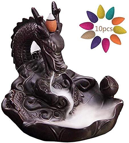 Keramische reflux wierookvat wierookbrander draak houder waterval rook wierook houder Wierook Aromatherapie decoratie voor woonkamer