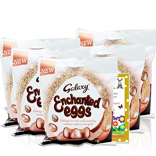 Galaxy Enchanted Minis - 80g x 5   Great Value Chocolate Gifts for Easter   Easter Chocolate Fun Facts Included