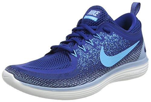 Nike Free Rn Distance 2, Scarpe da Corsa Uomo, Blu (Gym Blue/Blue Fury/Binary Blue/Cirrus Blue/White), 42.5 EU