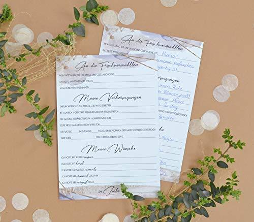 30 Gästebuch Karten für Hochzeit, Fragen zum Ausfüllen & Einkleben, Wünsche und Vorhersagungen
