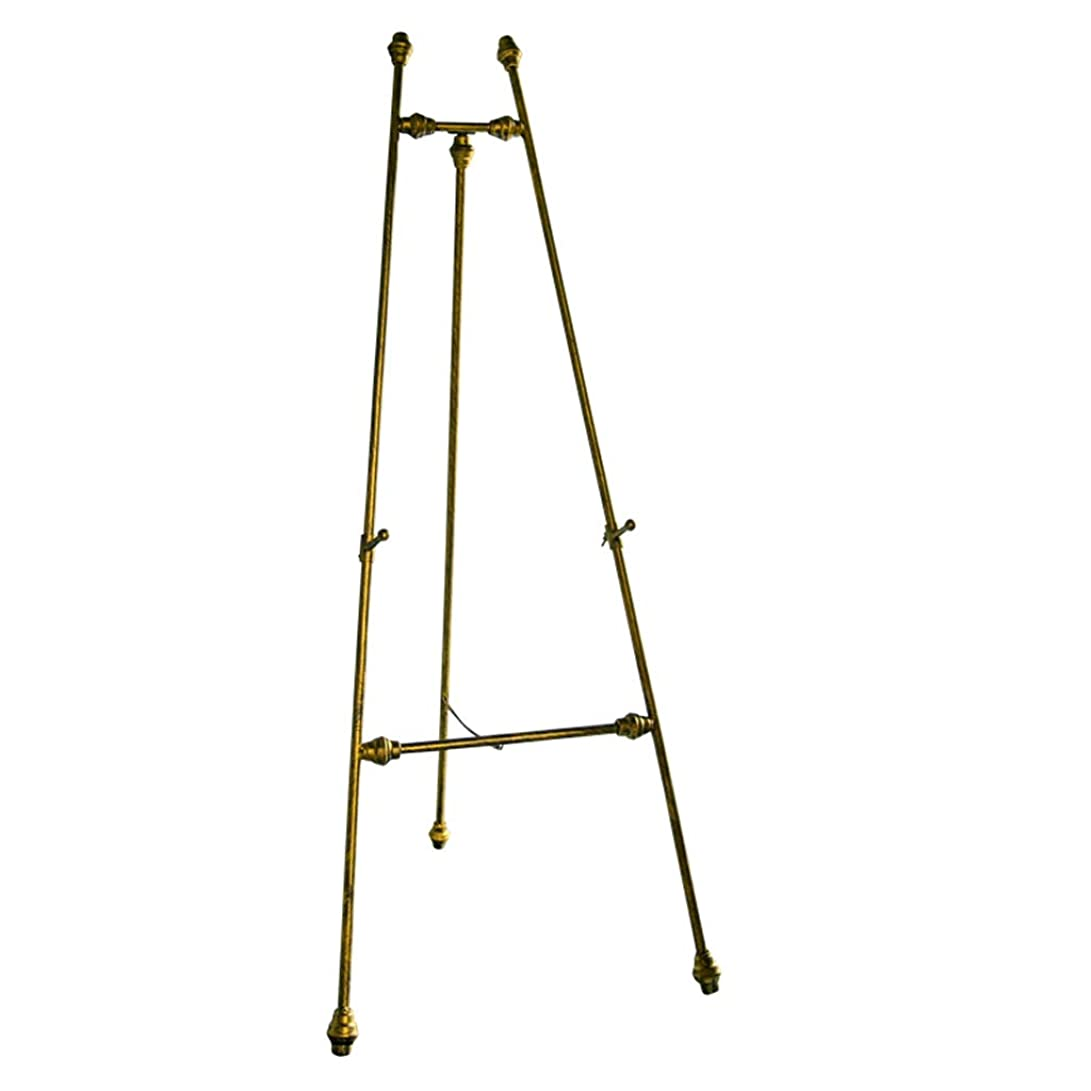 見る着飾るメタルライン錬鉄製のオイルイーゼルは自由に持ち上げることができ、様々な目的のための陳列台として使用できます。 XLSM