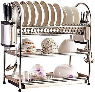 DJSMsnj Rangement de cuisine en acier inoxydable 304 - Égouttoir d'évier - Étagères de cuisine - Support de rangement pour...