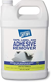 Motsenbocker's Lift Off 40801 Tape, Label, and Adhesive Remover 1-Gallon Bottle-Pack of 1, 128. Fluid_Ounces