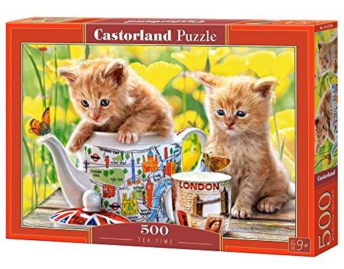 Tea Time 500 pcs Puzzle   Rompecabezas (Puzzle rompecabezas, Flora, Niños y adultos, Gato, Niño/niña, Interior) , color/modelo surtido