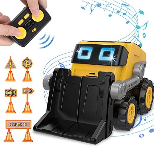REMOKING Remote Control Robot for Boys,2.4GHz Construction Bulldozer with...