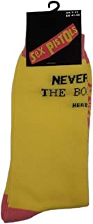 Never Mind the Bollocks' (Amarillo) Calcetines (Una talla = EUR 41-45)