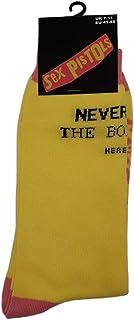 Sex Pistols, Never Mind the Bollocks' (Amarillo) Calcetines (Una talla = EUR 41-45)