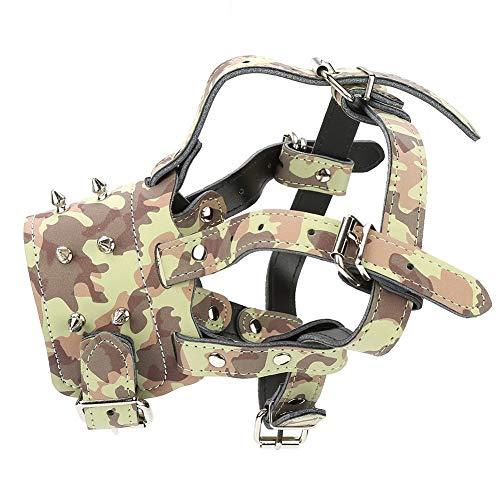 KSTE klinknagels in mand met hond, verstelbaar, riemen tegen Bite mond, afdekking (Camouflage)