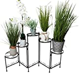 It's useful. 5-Tier Folding Plant Stand - Elegant Five-Tiered Wrought Iron Folding Plant Stand for Flower Pots or Planters for Indoor or Outdoor Use