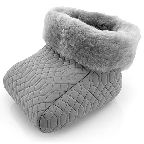 Fußsack Fußwärmer silber Lammfell grau