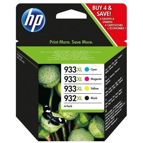 Hewlett Packard HP Nº 932XL/933XL Cartucho de inyección de tinta Combo Multi Pack CMYK Ref C2P42AE Pack 4 113913